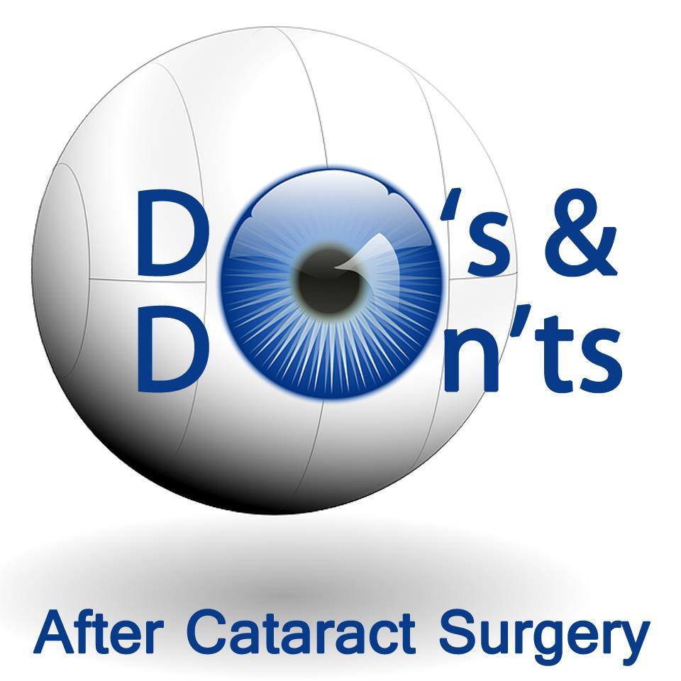Precautions after Cataract Surgery
