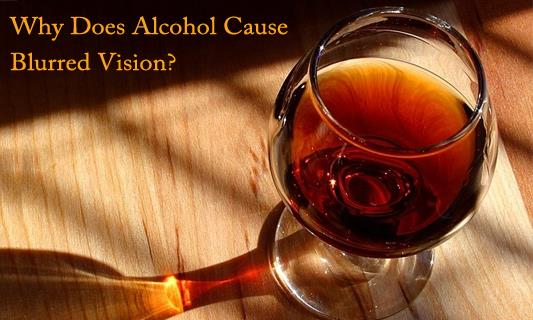 Why does Alcohol cause Blurred Vision?