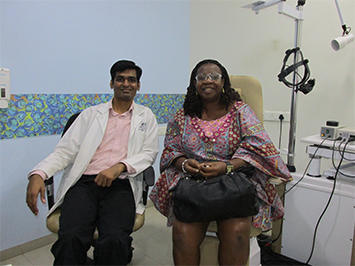 Uyanwune Ngozi (AEHI/12081), an International patient underwent Vitrectomy with Internal limiting membrane peeling surgery on 4.11.14 by Dr Yogesh Patil.