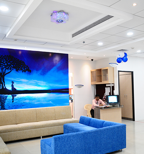 Eye surgery waiting area